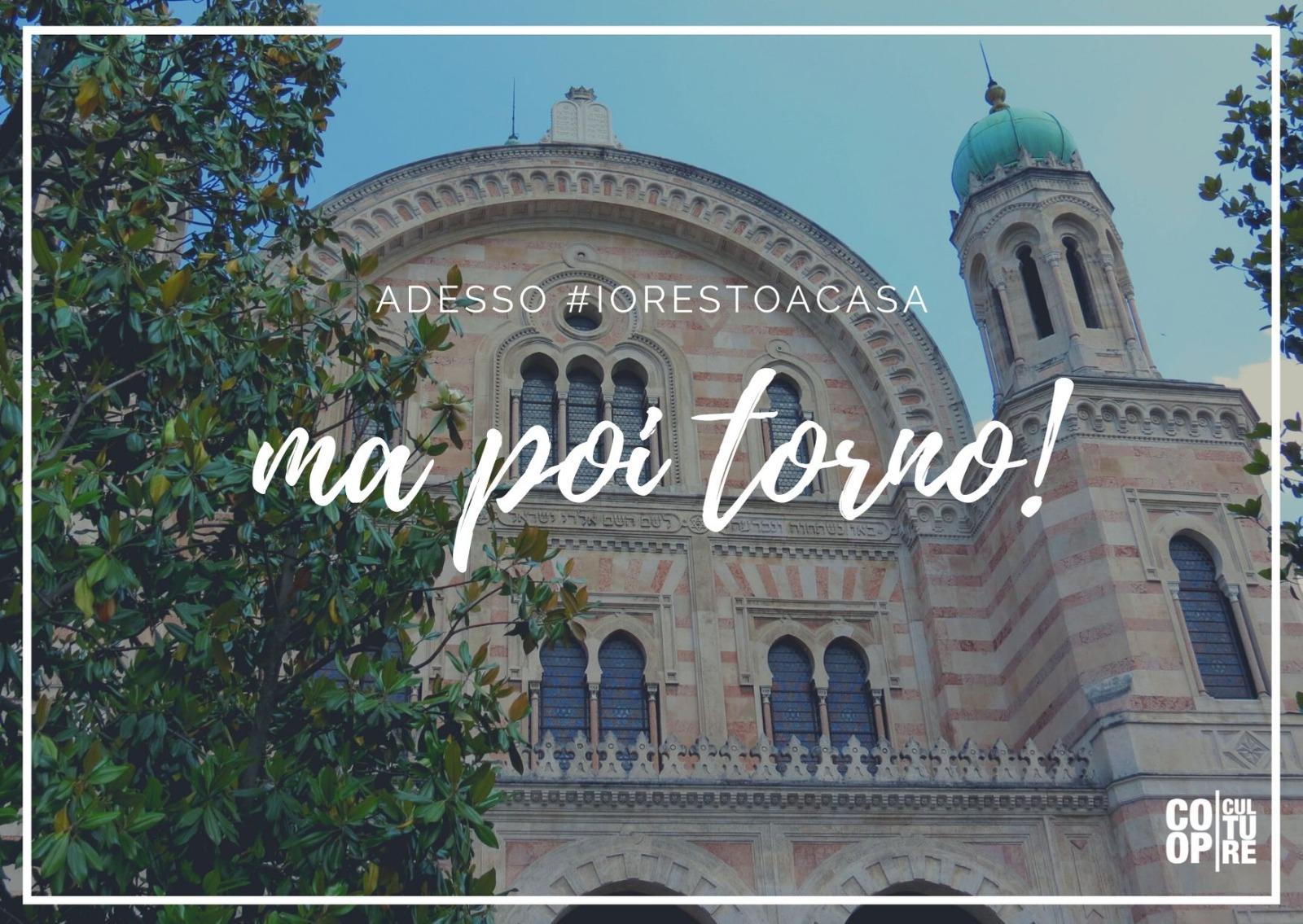 Sinagoga di Firenze, cartolina